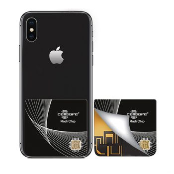 Mobile Phone Radiation Protection - Start Lowering Absorption Today! Cellsafe Radi-Chip for <b>iPhone 8 Plus & iPhone X</b>. Reduces SAR by up to 99.2%*
