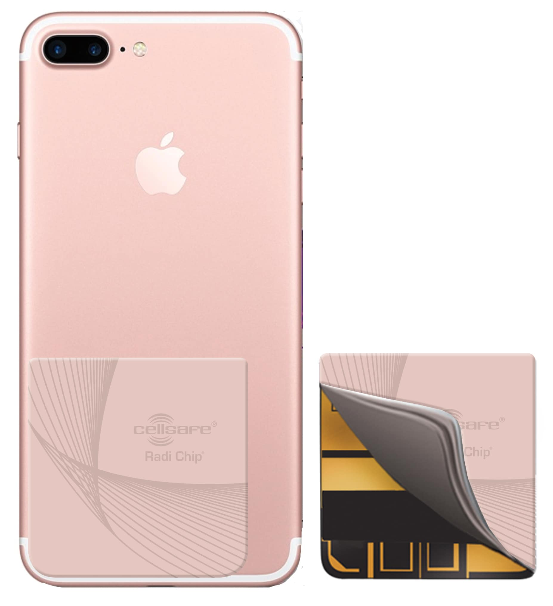 mobile phone radiation reducing cellsafe radi chip for iphone 7 plus and iphone 8 plus reduces. Black Bedroom Furniture Sets. Home Design Ideas
