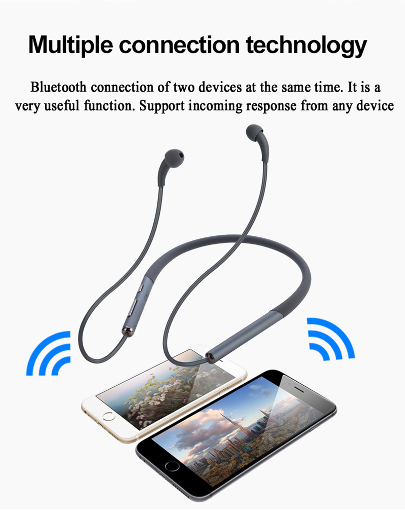 BLE EMF free wireless headphones multiple connection technology