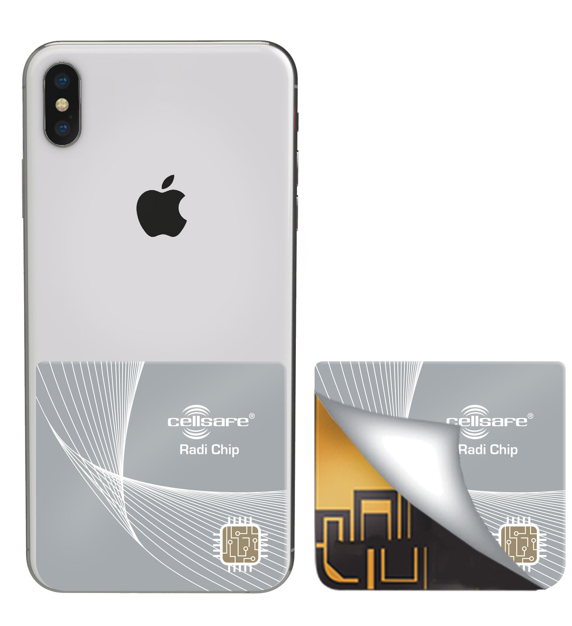 Mobile Phone Radiation Protection Cellsafe Radi-Chip for iPhone XS, XR &  iPhone XS Max  Reduces SAR by up to 98%*
